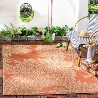 Martha Stewart by Safavieh Chrysanthemum Terracotta / Beige / Brown / Beige Area Rug (8' x 11'2)