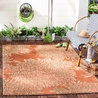 Martha Stewart by Safavieh Chrysanthemum Terracotta / Beige / Brown / Beige Area Rug - 8' x 11'2