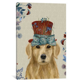 iCanvas A Milliner's Dog Series: Golden Retriever II by Fab Funky Canvas Print
