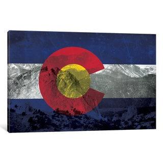 iCanvas State Flag Overlay Series: Colorado (Pikes Peak) by iCanvas Canvas Print