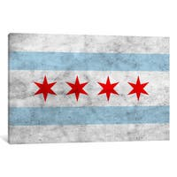 iCanvas 'Chicago City Flag (Grunge)' by iCanvas 'Canvas Print