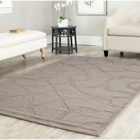 Martha Stewart by Safavieh Fretwork Cavern / Brown Wool Area Rug - 8' x 10'