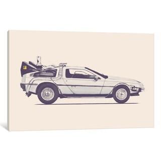 iCanvas 'DeLorean - Back To The Future' by Florent Bodart Canvas Print