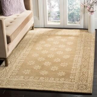 Martha Stewart by Safavieh Gracious Garden Spud / Camel Wool Area Rug - 8' x 10'