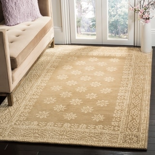 Martha Stewart by Safavieh Gracious Garden Spud / Camel Wool Area Rug (9' x 12')
