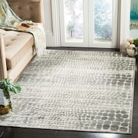 Martha Stewart by Safavieh Grey / Cream / Grey / Ivory Viscose Area Rug - 8' x 10'