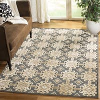 Martha Stewart by Safavieh Grey / Gold Viscose Area Rug - 8' x 10'