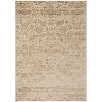 "Martha Stewart by Safavieh Heritage Bloom Dune / Brown / Cream Viscose / Chenille Area Rug - 8'10"" x 12'2"""
