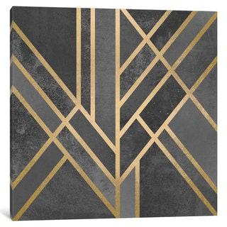 iCanvas Art Deco Geometry I by Elisabeth Fredriksson Canvas Print