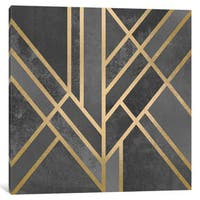 iCanvas Art Deco Geometry I by Elisabeth Fredriksson Canvas Print