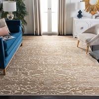 Martha Stewart by Safavieh Heritage Bloom Zinc / Brown Viscose / Chenille Area Rug (8' x 11'2)