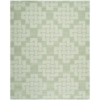 Martha Stewart by Safavieh Knot Sea Anemone / Green Wool Area Rug (9' x 12')