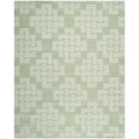 Martha Stewart by Safavieh Knot Sea Anemone / Green Wool Area Rug (9' x 12')