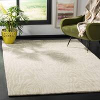 Martha Stewart by Safavieh Layered Faux Bois Potter's Clay / Grey / Green Wool Area Rug - 9' x 12'