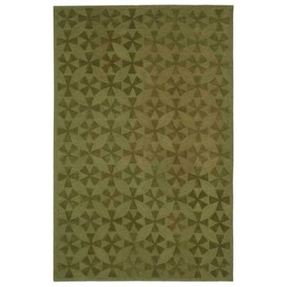Martha Stewart by Safavieh Navigation Bayou / Green Cotton Area Rug (8'6 x 11'6)