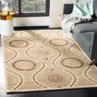Martha Stewart by Safavieh Ogee Dot Alpaca / Tan / Brown Wool Area Rug (9' x 12')