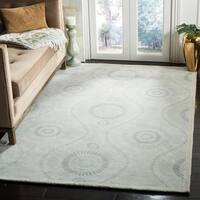 Martha Stewart by Safavieh Ogee Dot Spring Melt / Blue / Ivory Wool Area Rug - 8' x 10'