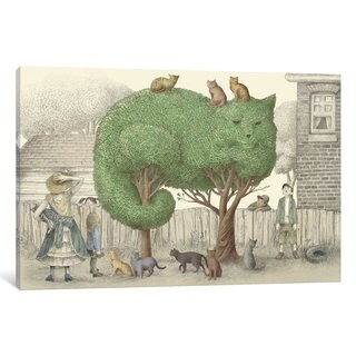 iCanvas Illustrations From The Night Gardner: The Cat Tree by Eric Fan Canvas Print