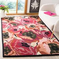 Martha Stewart by Safavieh Poppy Red / Red / Pink Wool Area Rug (8' x 10')