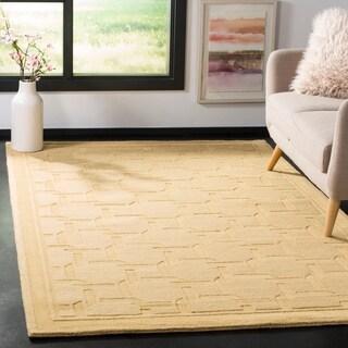 Martha Stewart by Safavieh Resort Weave Dried Chamomile / Yellow Wool Area Rug (8' x 10')