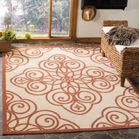 Martha Stewart by Safavieh Rosamond Cayenne / Red / Cream Area Rug - 8' x 11'2