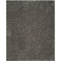 Martha Stewart by Safavieh Shag Grey / Grey Polyester Area Rug - 8' x 10'