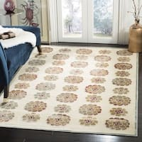 Martha Stewart by Safavieh Spruce / Cream / Beige Viscose Area Rug - 8' x 10'