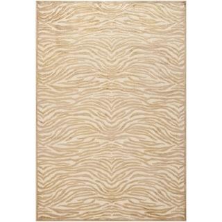 Martha Stewart by Safavieh Jelezna Abstract Viscose Rug (8 x 10 - Taupe/Cream)