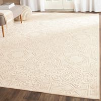 Martha Stewart by Safavieh Wayfarer Creme / Cream Viscose Area Rug - 8' x 11'2