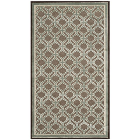 Martha Stewart by Safavieh Arrowroot / Green Viscose Area Rug - 2'7 x 4'