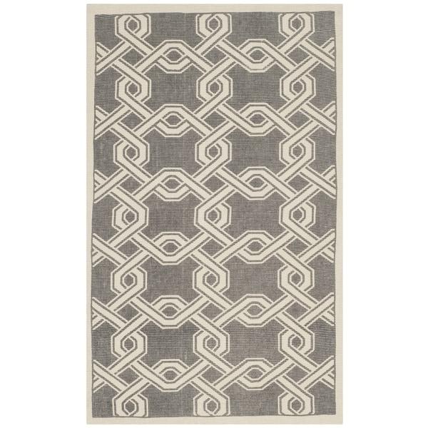 Martha Stewart by Safavieh Printed Grey / Natural / Grey / Ivory Jute Area Rug - 2'3 x 3'9