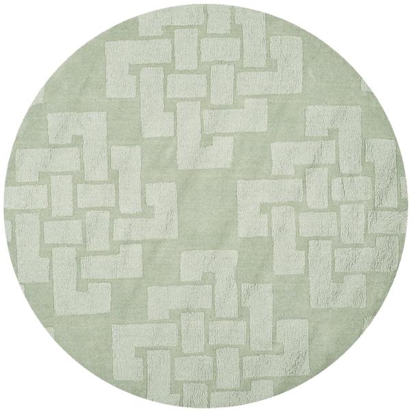 Martha Stewart by Safavieh Knot Sea Anemone / Green Wool Area Rug - 4' Round