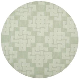 Martha Stewart by Safavieh Knot Sea Anemone / Green Wool Area Rug (8' Round)