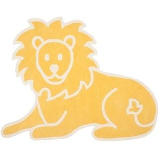 Martha Stewart by Safavieh Lion Egg Yolk / Yellow Wool Area Rug (4'3 x 5'6)
