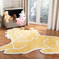 Martha Stewart by Safavieh Lion Egg Yolk / Yellow Wool Area Rug - 5'7 x 7'