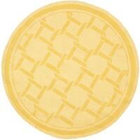 Martha Stewart by Safavieh Resort Weave Dried Chamomile / Yellow Wool Area Rug - 8' Round