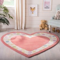 "Martha Stewart by Safavieh Sweet Heart Peony / Pink Wool Area Rug - 5'-3"" X 6'"