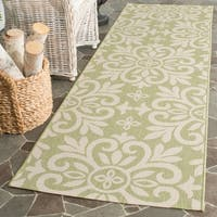 Martha Stewart by Safavieh Bloomfield Beach Grass / Green Runner Rug - 2'7 x 8'2