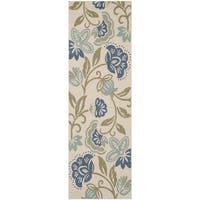 Martha Stewart by Safavieh Petaluma Mariner / Cream / Multi Runner Rug - 2'7 x 8'2