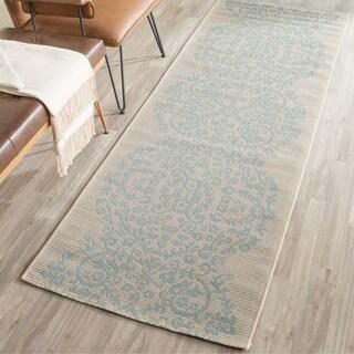 Martha Stewart by Safavieh Tapestry Rainwater / Beige / Blue Runner Rug (2'7 x 8'2)