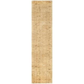 Martha Stewart by Safavieh Trellis Amber / Yellow Wool Runner Rug (2'3 x 10')