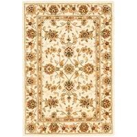 Safavieh Handmade Traditions Isfahan Ivory Wool and Silk Rug - 4' x 6'