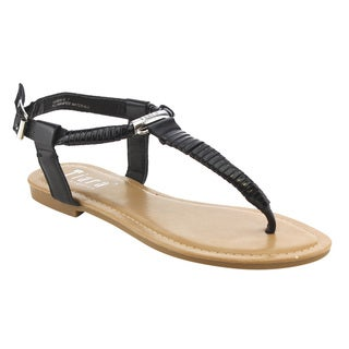 TIARA AG44 Women's T Strap Thong Slingback Ankle Strap Sandals