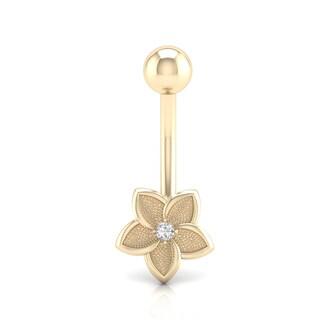 De Couer 10k Gold 1/20 TDW Diamond Belly Ring