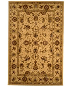 Safavieh Handmade Traditions Isfahan Ivory Wool and Silk Rug (5' x 8')