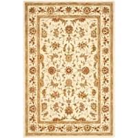 Safavieh Handmade Traditions Isfahan Ivory Wool and Silk Rug - 5' x 8'