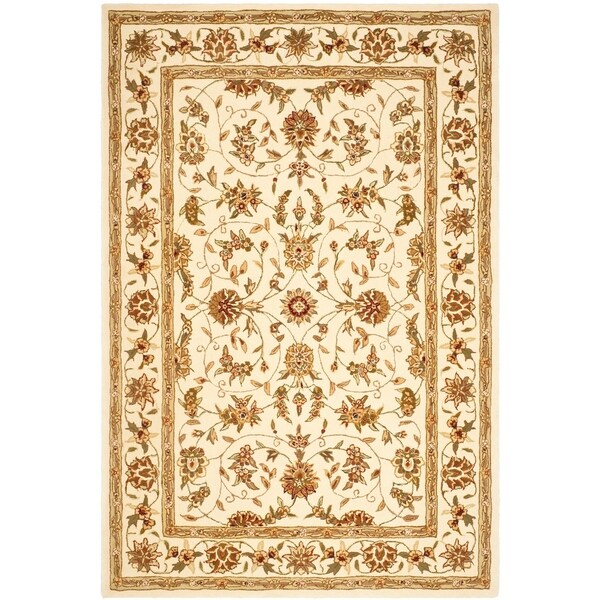 Safavieh Handmade Traditions Isfahan Ivory Wool and Silk Rug - 6' x 9'
