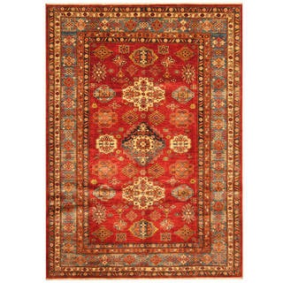 Handmade One-of-a-Kind Super Kazak Wool Rug (Afghanistan) - 5'8 x 7'11