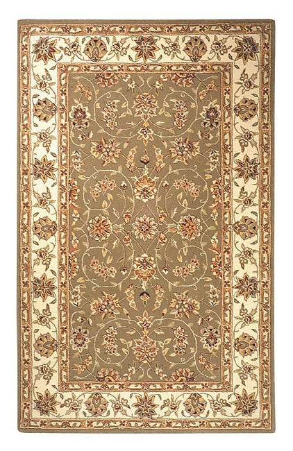 Safavieh Handmade Isfahan Sage/ Ivory Wool and Silk Rug (6' x 9')