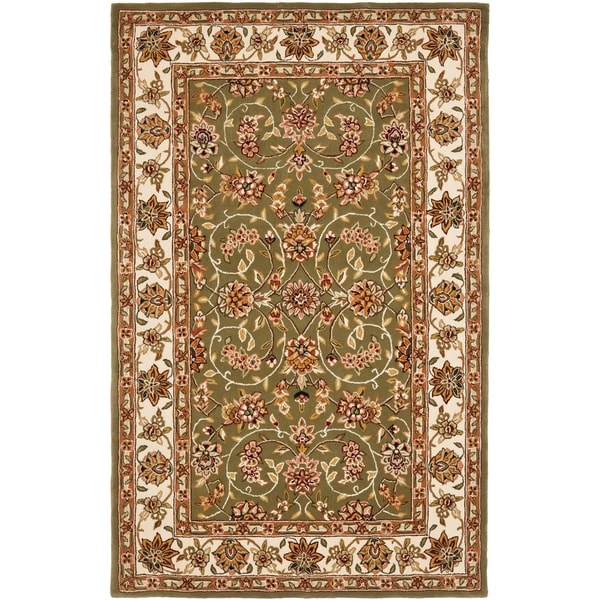Safavieh Handmade Isfahan Sage/ Ivory Wool and Silk Rug - 9' x 12'